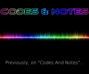 "Cover for the ""Previously, on Codes And Notes"" release"