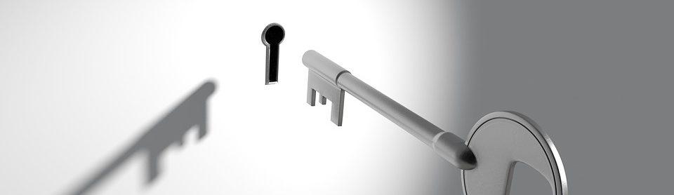 key next to keyhole